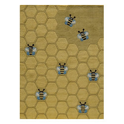 Momeni - Kids Lil Mo Whimsy 2'x3' Rectangle Honeycomb Gold Area Rug - The Lil Mo Whimsy area rug Collection offers an affordable assortment of Kids stylings. Lil Mo Whimsy features a blend of natural Honeycomb Gold color. Hand Tufted of 100% Mod-Acrylic the Lil Mo Whimsy Collection is an intriguing compliment to any decor.