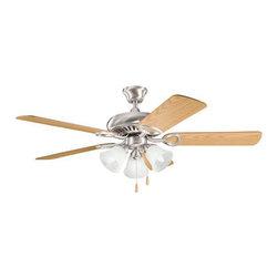 Kichler Lighting - Kichler Lighting 339400BSS Sutter Place Premier 3 Light Indoor Ceiling Fan - 52 Inch Sutter Place Premier F