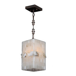 Worldwide Lighting - Pompeii 1 light Flemish Brass Finish Natural Quartz Mini-Pendant Square - This stunning 1-light pendant only uses the best quality material and workmanship ensuring a beautiful heirloom quality piece. Featuring a radiant flemish brass finish and natural quartz stone from Spain, this elegant pendant will liven up any room. The quartz stone used in this fixture is not mass produced. No synthetic process could replicate the natural beauty of this beautiful quartz pendant.Worldwide Lighting Corporation is a premier designer manufacturer and direct importer of fine quality chandeliers, surface mounts, and sconces for your home at a reasonable price. You will find unmatched quality and artistry in every luminaire we manufacture.