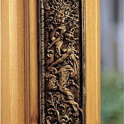 Design Toscano - Design Toscano Maiden Iron Door Plate Multicolor - SP627 - Shop for Wall Art from Hayneedle.com! Replicated from a popular British antique this Design Toscano Maiden Iron Door Plate was designed to eliminate wear and tear on frequently used interior doors but also works hanging on a kitchen or dining room wall as well as a backyard garden. The plate was constructed from solid cast iron and is hand-finished with gold-toned highlights. Easy to hang the plate weighs just one pound.About Design Toscano: Design Toscano is the country's premier source for statues and other historical and antique replicas which are available through the company's catalog and website. Design Toscano's founders Michael and Marilyn Stopka created Design Toscano in 1990. While on a trip to Paris the Stopkas first saw the marvelous carvings of gargoyles and water spouts at the Notre Dame Cathedral. Inspired by the beauty and mystery of these pieces they decided to introduce the world of medieval gargoyles to America in 1993. On a later trip to Albi France the Stopkas had the pleasure of being exposed to the world of Jacquard tapestries that they added quickly to the growing catalog. Since then the company's product line has grown to include Egyptian Medieval and other period pieces that are now among the current favorites of Design Toscano customers along with an extensive collection of garden fountains statuary authentic canvas replicas of oil painting masterpieces and other antique art reproductions. At Design Toscano attention to detail is important. Travel directly to the source for all historical replicas ensures brilliant design.