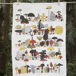 Makelike Fungus Among Us Tea Towel - The Fungus Among Us Tea Towel by Makelike comes from a true passion for pattern! This four–color tea towel is hand–screenprinted using water–based inks on 100% European linen.