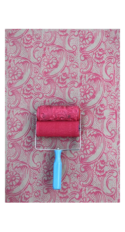 NotWallpaper - Patterned Paint Roller and Applicator, Night Dahlia - Patterned Paint Roller and Applicator combo set