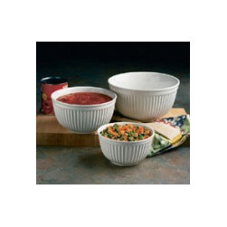 Mixing Bowl Set Available in 8 Colors - In a rainbow of luminous hues, these durable earthenware bowls are as useful for mixing as for serving. Our beautiful mixing bowls come in sets of 3;
