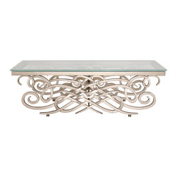 """Monte Carlo Coffee Table Base - Monte Carlo Coffee Table Base (Small). Style no: CT96650. 48""""w x 24""""d x 18""""h."""