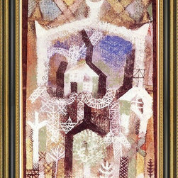 """Art MegaMart - Paul Klee Summer Houses - 16"""" x 24"""" Framed Premium Canvas Print - 16"""" x 24"""" Paul Klee Summer Houses framed premium canvas print reproduced to meet museum quality standards. Our Museum quality canvas prints are produced using high-precision print technology for a more accurate reproduction printed on high quality canvas with fade-resistant, archival inks. Our progressive business model allows us to offer works of art to you at the best wholesale pricing, significantly less than art gallery prices, affordable to all. This artwork is hand stretched onto wooden stretcher bars, then mounted into our 3 3/4"""" wide gold finish frame with black panel by one of our expert framers. Our framed canvas print comes with hardware, ready to hang on your wall.  We present a comprehensive collection of exceptional canvas art reproductions by Paul Klee."""