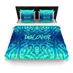 "Kess InHouse - Caleb Troy ""Tattooed Discovery"" Cotton Duvet Cover (Queen, 88"" x 88"") - Rest in comfort among this artistically inclined cotton blend duvet cover. This duvet cover is as light as a feather! You will be sure to be the envy of all of your guests with this aesthetically pleasing duvet. We highly recommend washing this as many times as you like as this material will not fade or lose comfort. Cotton blended, this duvet cover is not only beautiful and artistic but can be used year round with a duvet insert! Add our cotton shams to make your bed complete and looking stylish and artistic!"