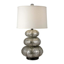 Regina Andrew - Regina Andrew Stacked Silver Sea Urchin Table Lamp - Stacked silver sea urchin table lamp.