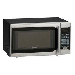 Avanti - Avanti 0.7 Cubic Foot Black Cabinet with Stainless Steel Touch Microwave - Avanti 0.7 cubic foot black cabinet with stainless steel touch microwave