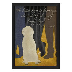 "The Artwork Factory - ""The better I get to know men..."" Print - Ready-to-Hang, 100% Made in the USA, museum quality framed artwork"