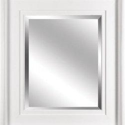 YOSEMITE HOME DECOR - White Framed Mirror - Mirror with Sleek High-gloss White Finish Wood Frame