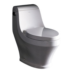 Ariel Platinum - Ariel Platinum TB133M Adonis Contemporary One Piece White Toilet 29x16x28.3 - Ariel cutting-edge designed one-piece toilets with powerful flushing system. It's a beautiful, modern toilet for your contemporary bathroom remodel.