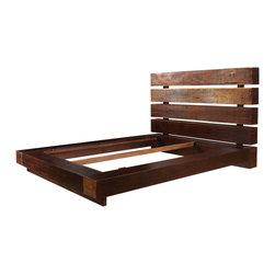 Marco Polo Imports - Parker King Bed - Elegant king size bed skillfully crafted from high-quality wood and a natural walnut finish.