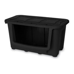 Home Products - Large Modular Storage Bin, Black by HOMZ - Our HOMZ Large Stacking Modular Storage Bin is made from an impact-resistant material. This customizable storage system features a wall anchoring capability function for ultimate convenience.