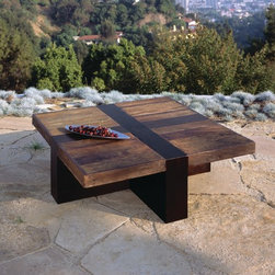 Environment Furniture - Santos Coffee Table - Santos Coffee Table made from reclaimed Brazilian Peroba Rosa wood - shot by Benny Chan