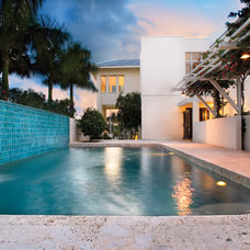 Tropical Pool by Jonathan Parks Architect