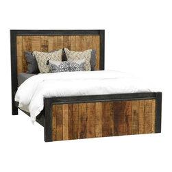 Restoration Rustic King Panel Bed Frame -
