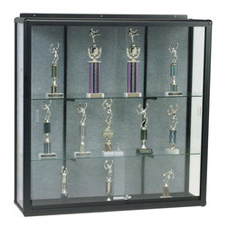 Best Rite - 48H x 36W x 14D Wall Mounted Display Case - The Wall Mount Display Case shows your collectibles and valuables with style.