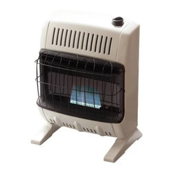 MR. HEATER - BLUE FLAME 10K BTU HEATER NG - Vent Free Blue Flame 10K BTU Heater | Blower Included | Stand Included | Natural Gas