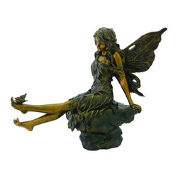 TLT - 14 Inch Hand Painted Outdoor Fairy Figurine with Butterfly on Foot - This gorgeous 14 Inch Hand Painted Outdoor Fairy Figurine with Butterfly on Foot has the finest details and highest quality you will find anywhere! 14 Inch Hand Painted Outdoor Fairy Figurine with Butterfly on Foot is truly remarkable.