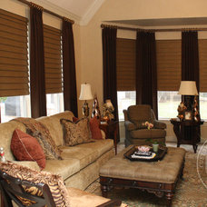 Traditional Living Room by Custom Drapery Designs, LLC.