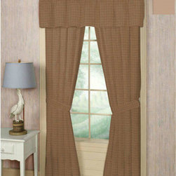 Patch Quilts - Brown Light Checks Bed Curtain 40X 80 - - Home Spun, yarn dyed fabric curtains.Window treatments complements the Patch Magic Quilt line and bedroom decor   - Machine washable.Line or Flat dry only Patch Quilts - CBW322A