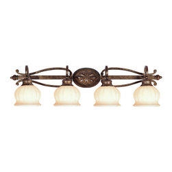 Livex Lighting - Livex Lighting 8444-50 Bath - Glass Type/Shade Type: Vintage Carved Scavo Glass