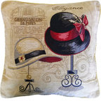 Tache Home Fashion - Tache Window Shopping in Paris 18 x 18 Inch Throw Cushion Cover, 18 X 18 Inches, - Window Shopping in Paris. What Can be more fun. Parisian designs in a Vintage Style. A Must for any Fashionista