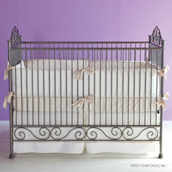 Casablanca Iron Crib in Pewter by Bratt Decor - Casablanca Crib in Pewter by Bratt Decor