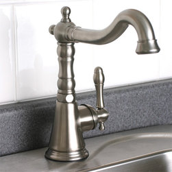 Charlestown Single-Lever Bar Faucet - Great for a wet bar or kitchen sink, the Charlestown Signle-Lever Faucet features a traditional hook spout, a decorative column and a single-lever control.