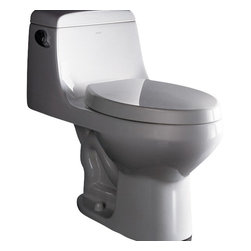 """Ariel - Ariel Platinum """"Apollo""""  Contemporary One Piece White Toilet 28x14x26 - Ariel cutting-edge designed one-piece toilets with powerful flushing system. It?s a beautiful, modern toilet for your contemporary bathroom remodel. Dimensions: 28 x 14 x 26, UPC Approved, 12"""" Rough in For easy standard installation, High Quality Glaze that resist stains and Microbes, Seat is Included with the Toilet, Single flush (1.6gpf), Elongated Bowl, One Piece Construction for Clean modern look"""