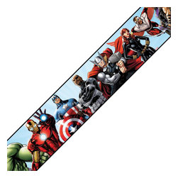 York Wallcoverings - Marvel Avengers Prepasted Wall Border Comic Book Accent - FEATURES: