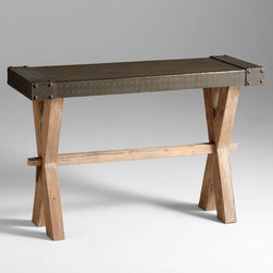Cyan Design - Mesa Console - Mesa console - raw iron and natural wood