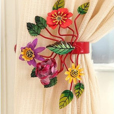 Eclectic Hardware Bright Botanical Curtain Tie-Backs