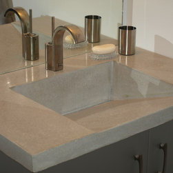 A classic integral ramp sink with a slot drain - Peter Somers