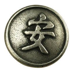 Anne At Home - 1 1/4 Tranquility Knob (Set of 10) (Weathered White) - Finish: Weathered White. Hand cast and finished. Made in the USA. Pewter with brass insert. Collection: Asian. 1.25 in. L x 1.25 in. W x 0.75 in. H