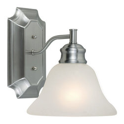 Design House - Design House 516666 Bristol Traditional / Classic 1 Light Up / Down Lighting Wal - Design House Bristol 1 Light Wall SconceThe Bristol Collection Is Easy Transitional Styling In Fresh Satin Nickel Finish