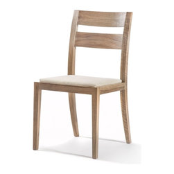 Gingko - Big Sur Dining Chair, Natural Walnut - Hold onto your seats. Handmade from gorgeous solid walnut, this sturdy dining-height chair features graceful legs, a lightly curved back and a soft upholstered seat. It's also available in dark or natural finishes — so you can pick your seats with ease.