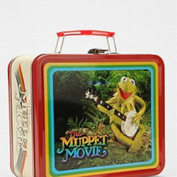 The Muppet Movie Lunchbox - There is a subset of movie goers who are thrilled about the new Muppet movie whose thrill is derived mostly from nostalgia over the first Muppet movie: those of us born in the early '70s. Remember Kermie in the swamp? The frog leg billboard? Oh, Kermie.
