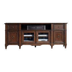 """Hooker Furniture - Hooker Furniture Entertainment Console 78"""" 5068-55486 - The Riley collection provides organization with flair."""