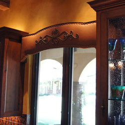 Custom Window Treatments - Hacienda Kitchen Window,