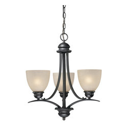 Vaxcel Lighting - Vaxcel Lighting AL-CHU003 Avalon 3 Light One Tier Mini Chandelier - Features: