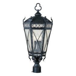 Maxim Lighting - Maxim Lighting 30451CDAT Canterbury 3-Light Outdoor Pole/Post Lantern - Features