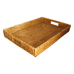 Rectangular Woven Serving Tray - What would I do without trays? I use them to serve, to organize and to create stylish vignettes.