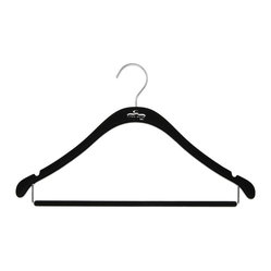 The Signature Slim Shirt Hanger w/ Bar, Black w/ Chrome