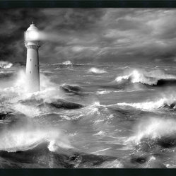 Le Four Lighthouse Framed with Gel Coated Finish by Jean Guichard