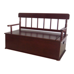 Levels of Discovery - Simply Classic: Cherry Finish Bench Seat with Storage - Classic colors�timeless finishes�always in style The perfect accent for any d�corTimeless finish. All products have instructions included for assembly. All products have instructions included for assembly. .