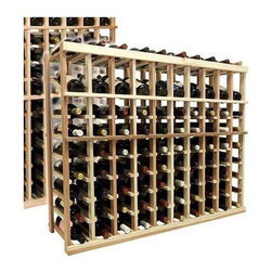 Wine Cellar Innovations - 3 ft. 10-Column Wine Rack (All-Heart Redwood - Midnight Black Stain) - Choose Wood Type and Stain: All-Heart Redwood - Midnight Black Stain. Bottle capacity: 90. Ten column wine rack. Versatile wine racking. Custom and organized look. Beveled and rounded edges ensures wine labels will not tear when the bottles are removed. Can accommodate just about any ceiling height. Wine rack: 45.69 in. W x 13.5 in. D x 35.94 in. H (28 lbs.). Optional base platform: 45.69 in. W x 13.38 in. D x 3.81 in. H (5 lbs.). Vintner collection. Made in USA. Warranty. Assembly Instructions. Rack should be attached to a wall to prevent wobble