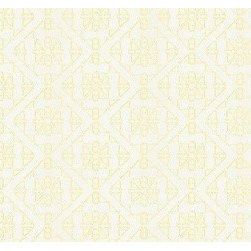 San Lucia in Citron - The drapery weight fabric San Lucia in Citron is an embroidered geometric pattern. Great for window treatments, pillows, and bedding.