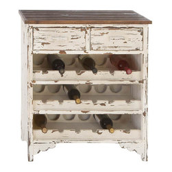 Benzara - Classic Wood Wine Cabinet 32in.H, 28in.W - Size: 28 Wide x 14 Depth x 32 High (Inches)