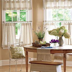 Ticking Stripes Valances and Tier Curtains - You'll appreciate the versatility and the value of this sturdy, traditional fabric we've all loved for years!